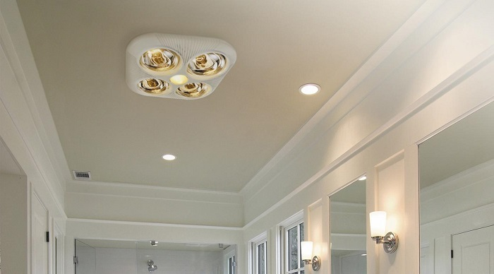 Bathroom Exhaust Fan Heater Light