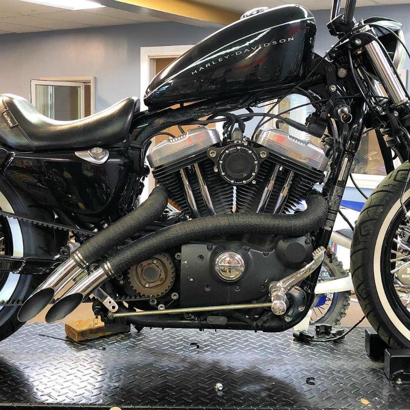 black exhaust heat wrap