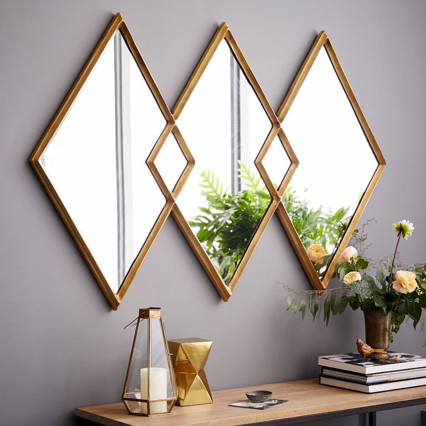 geometric wall mirror philippines designs with paint