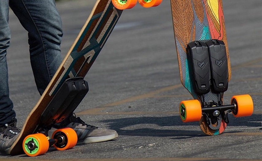 guy with electric skateboard