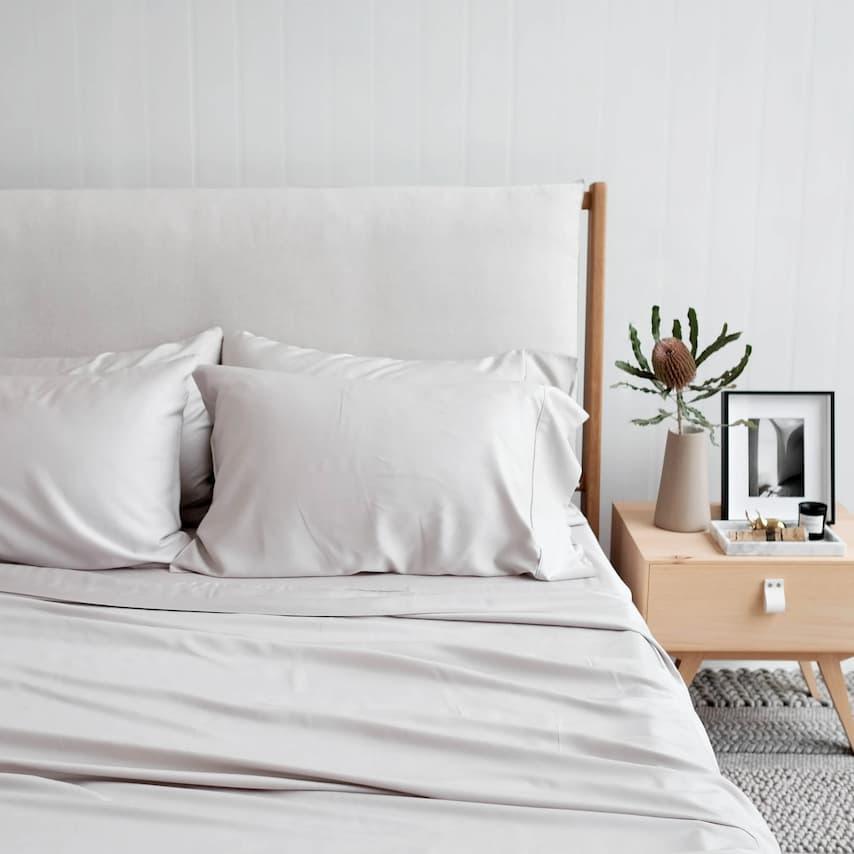 bamboo white sheet bedding