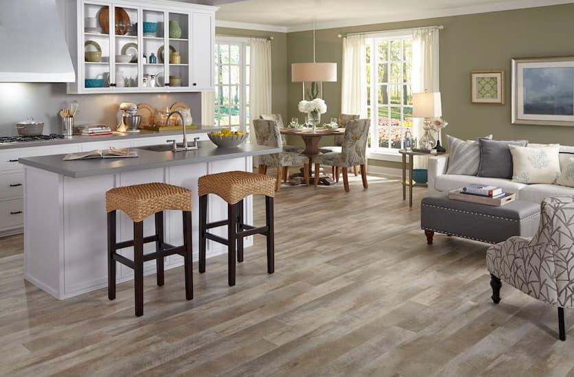vinyl flooring for kitchen and living room